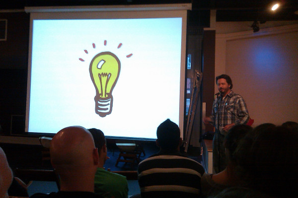 Chris Reimer (RizzoTees) at Pecha Kucha STL