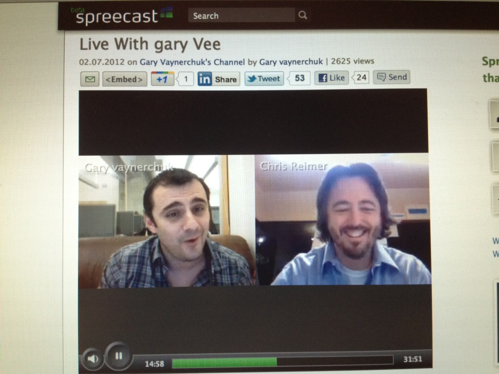 Garyvee on Spreecast